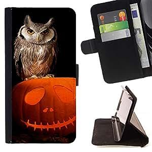 Owl Pumpkin Halloween Autumn - Modelo colorido cuero de la carpeta del tirón del caso cubierta piel Holster Funda protecció Para MOTOROLA MOTO X PLAY XT1562