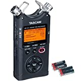 Tascam DR-40 4-Channel 96kHz/24-bit Digital Recorder with Free 4 Universal Electronics AA Batteries