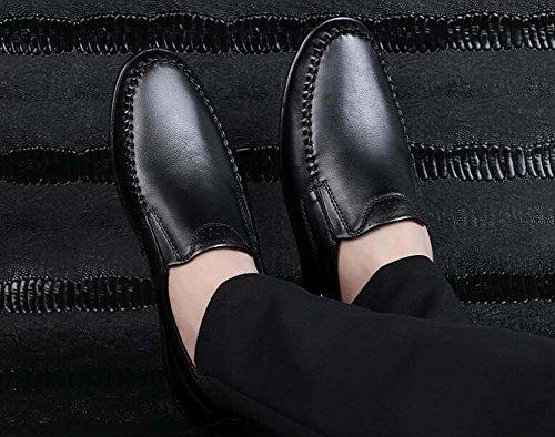 Edad Guisantes pies de Negro de Zapatos Zapatos para Color y de 36 Perezosos Padre Zapatos Zapatos Hombres Suaves Conducción Primavera Tamaño Conjuntos Nuevo de Mediana Verano de 5vqOx