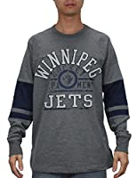 NHL WINNIPEG JETS Mens Heavy Weight Long Sleeve Shirt (Vintage Look)