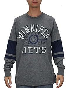 NHL WINNIPEG JETS Mens Heavy Weight Long Sleeve Shirt (Vintage Look)