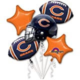 Anagram 31399 Chicago Bears Balloon Bouquet Multicolored
