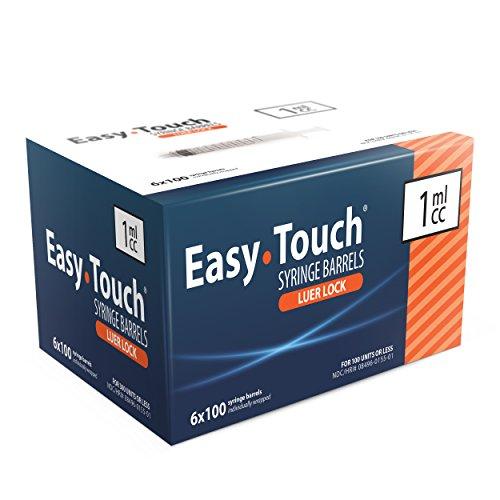 EasyTouch 1ML Luer-Lock Syringe Barrel Only (100 syringes)