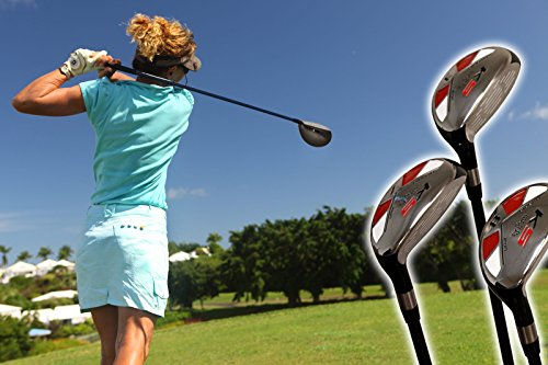 Petite Womens Majek Golf All Ladies Hybrid Complete Full Lightweight Graphite Set which Includes: #3, 4, 5, 6, 7, 8, 9, PW. Lady Flex Right Handed New Rescue Utility ''L'' Flex Club Perfect for Petite Short Shorter Women 4'10 to 5'3'' Tall by Majek (Image #8)
