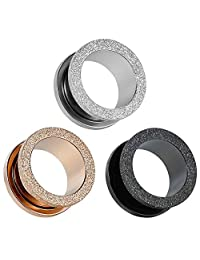 COOEAR Gauges for Ears Surgical Steel Tunnels Upgrade Scrub Plugs Piercing Party Gift Earrings 8g(3mm) to 5/8g(16mm)
