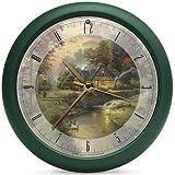 Thomas Kinkade 13 Inch Nature Sounds Stillwater Cottage Clock