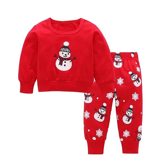 Amazon.com: LXXIASHI Pajamas de Navidad para recién nacido ...