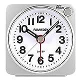 Best Travel Alarm Clocks - FAMICOZY Small Lightweight Travel Alarm Clock, Silent Non Review