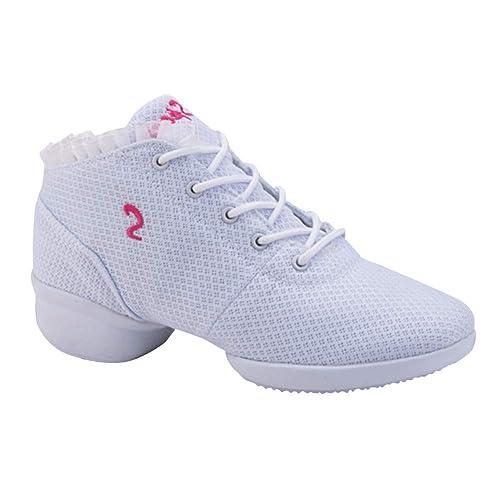 Gtagain Zapatos de Baile Moderno para Mujer - con Cordones Zapatillas de Deporte Ligeras de Entrenamiento Zapato de Goma Suela Diario Desgaste Diario ...