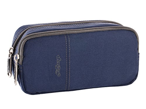 Pencil Cases Large Pencil Pouch Pen Bag with Two Compartments for Girls Boys Adults (Navy)