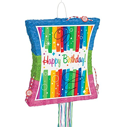Rainbow Birthday Pinata, Pull String]()