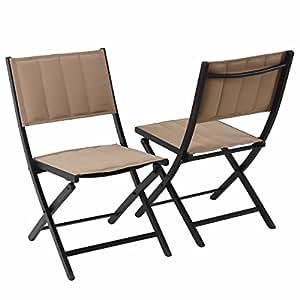 Amazon.com : PHI VILLA Oversize Patio Folding Chairs Indoor Outdoor ...