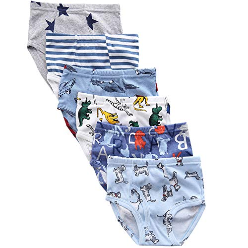 benetia Boys Underwear Kids Cotton Dinosaur 6-Pack Size 9 8