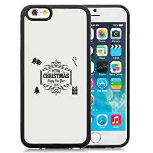 NEW Unique Custom Designed iPhone 6 4.7 Inch TPU Phone Case With Minimal Vintage Merry Christmas Illustration_Black Phone Case