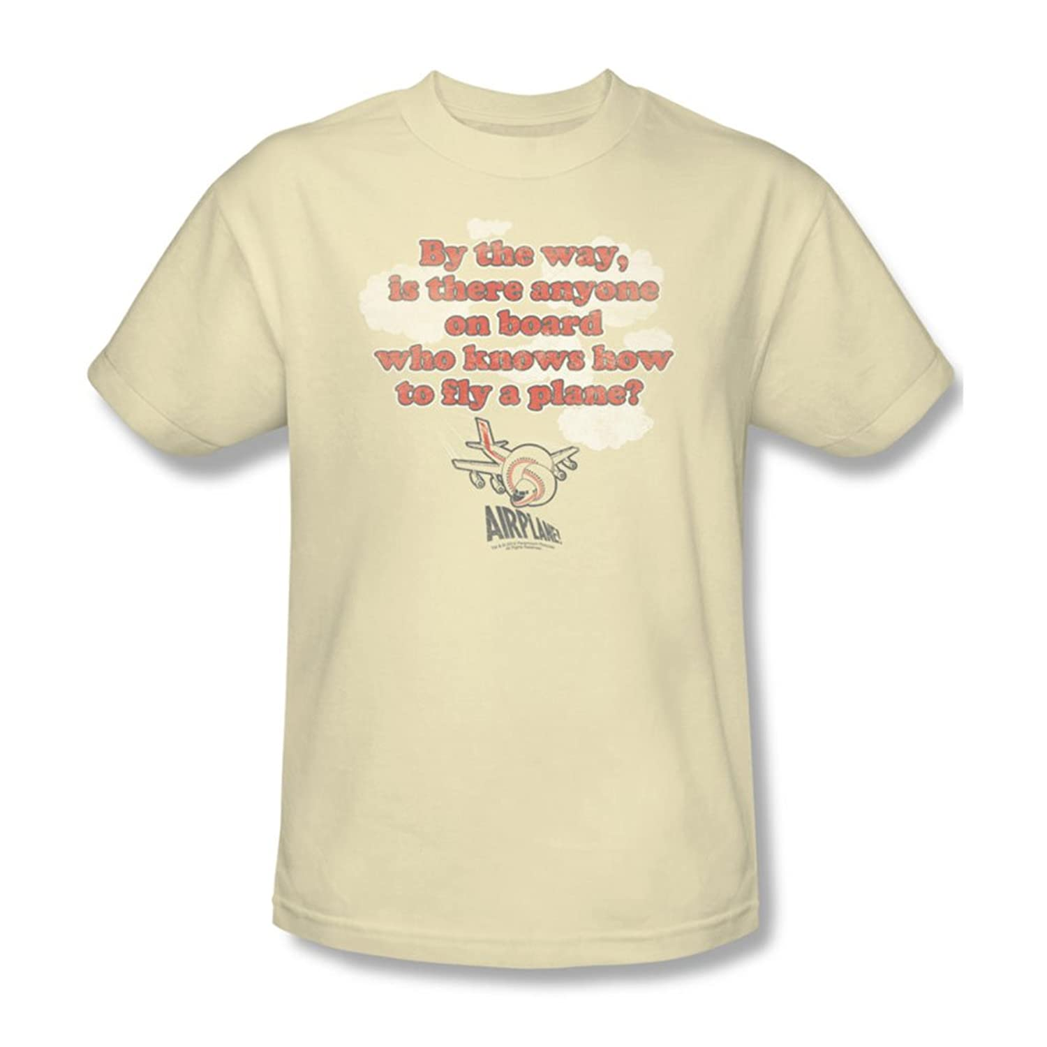 Airplane - Mens Fly T-Shirt In Cream