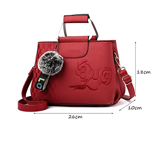 Généreux Retro Bag Rouge Multifonction Brodé Dei Double couleur Portable Khaki Messenger Sac Mme Qi Mode zqq6SIP
