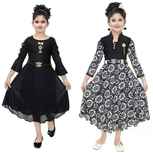 DIGIMART Girl's Multicolor Fancy Party Wear Frock Combo (SBNBKGF001_$P)
