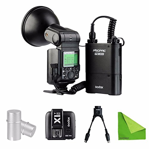 EACHSHOT Godox AD360II-N 360W GN80 i-TTL Flash Speedlite Built-in 2.4G X Wireless System for Nikon + PB960 Battery + X1T-N + DB-02 Cable + AD-S15 Bulb Cover by EACHSHOT
