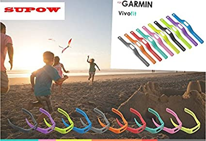 SUPOW Premium Fashion 1PC Large Size 178MM-243MM Colorful Watchband Strap Replacement Wristbands//Outdoor Professional Sport Watches Accessories For Garmin Vivofit Only SmartBand Intelligent Bracelet Wrist Strap Healthy Fitness Wristbands//Heart Rate mon TM