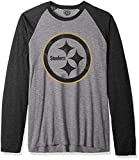 OTS NFL Pittsburgh Steelers Men's Triblend Raglan Tee, Distressed Iced, Medium