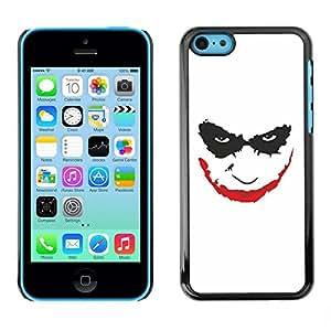 Be Good Phone Accessory // Dura Cáscara cubierta Protectora Caso Carcasa Funda de Protección para Apple Iphone 5C // Smiling Joker