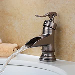 Yajo Antique Bathroom Vessel Sink Single Handle Rustic