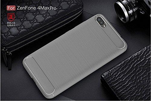 Funda ASUS ZenFone 4 MAX Pro,Funda Fibra de carbono Alta Calidad Anti-Rasguño y Resistente Huellas Dactilares Totalmente Protectora Caso de Cuero Cover Case Adecuado para el ASUS ZenFone 4 MAX Pro B
