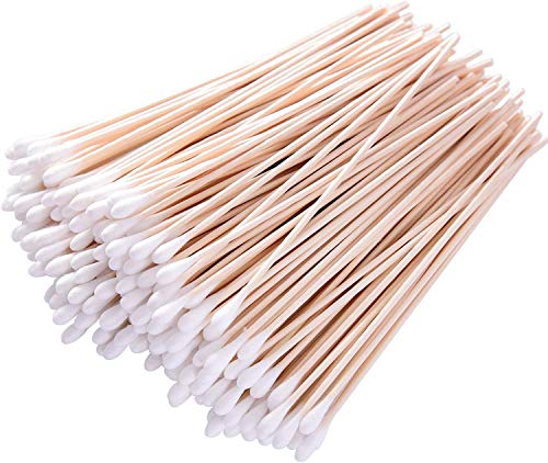 Long Cotton Swabs, 6 Inch Applicator Single Tip with Wooden Handle, Accessory For Gun Cleaning, Jewelry, Ceramics, Electronics, Fabric Decoration, Arts And Crafts, And Hobbies