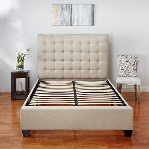 Classic Brands Europa Wood Slat and Metal Platform Bed Frame | Mattress Foundation, Queen by Classic Brands (Image #8)