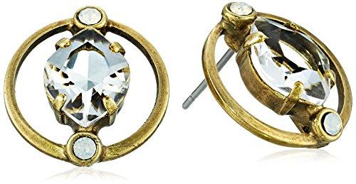 Sorrelli Women's Tiger Lily Stud Earrings, Clear, -