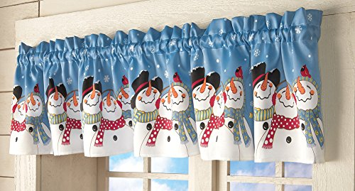 Frosty Friends Snowman - Collections Etc Frosty & Friends Snowman Window Valance