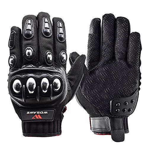 yuguEnviprot Unisex Motocross Racing Biker Cycling Full Finger Gloves Black L
