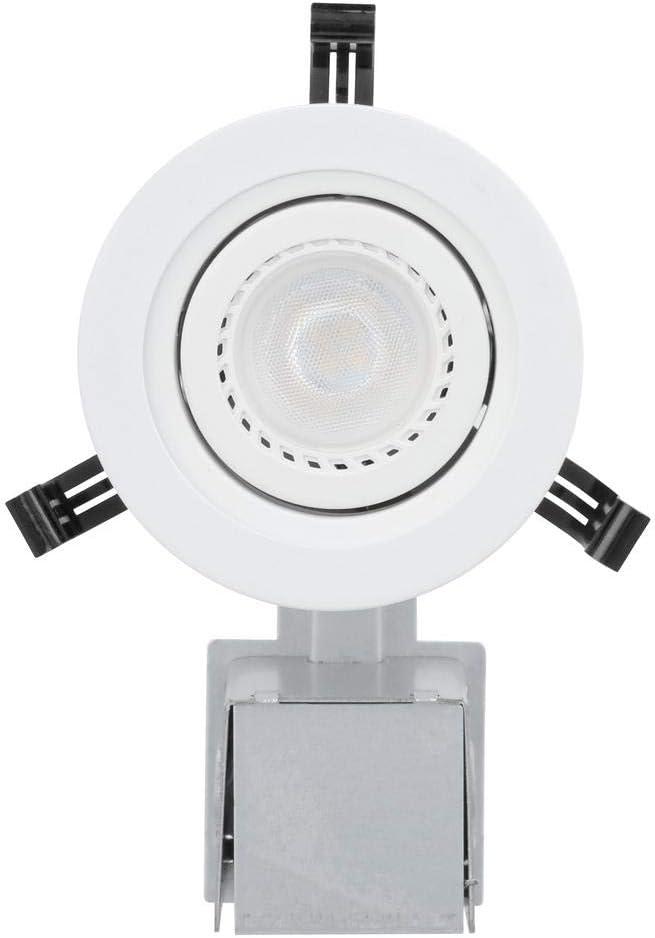 Matte White Recessed LED Gimbal Lighting Kit 3 in