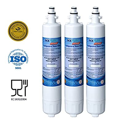 Premium Refrigerator Replacement Water Filter, 3 PACK, Compatible W/ GE RPWF ONLY (NOT FOR RPWFE)