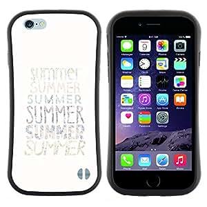 "Pulsar iFace Series Tpu silicona Carcasa Funda Case para Apple (4.7 inches!!!) iPhone 6 Plus / 6S Plus ( 5.5 ) , Texto verano minimalista White Sun Surf"""