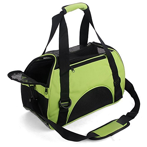 Cheap Soft Sided Pet Carrier,DotPet Airline approved Portable Pet Carrier Travel Pet Carrier Puppy Handbag Tote Shoulder Bag Perfect for Cats and Small Dogs (Green)