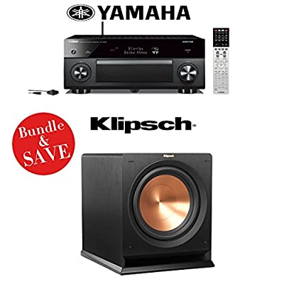 Yamaha AVENTAGE RX-A3050 9.2-Channel Network AV Receiver + (1) Klipsch Reference R-112SW 12-Inch 600-Watt Powered Subwoofer