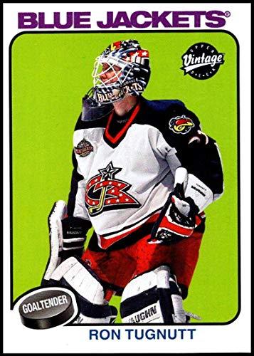 2001-02 Upper Deck Vintage #71 Ron Tugnutt NM-MT Columbus Blue Jackets Official NHL Hockey Card (Vintage Deck Jacket)