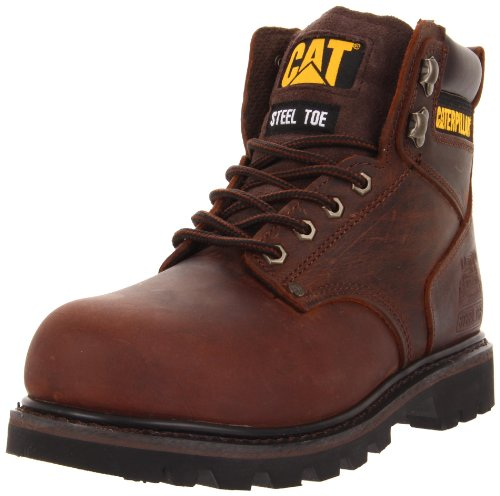 Caterpillar Men's Second Shift Steel Toe Work Boot,Dark Brown,11 M - Brown Caterpillar