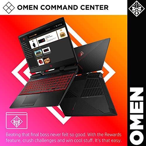 Omen by HP 2019 15-Inch Gaming Laptop, Intel i7-9750H Processor, NVIDIA GTX 1660Ti (6 GB), 8 GB RAM, 256 GB SSD, VR Ready, Windows 10 Home (15-dc1020nr, Black) 51UBuXrydPL