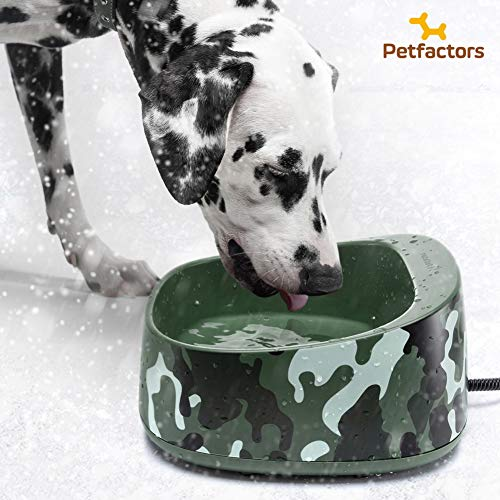 Petfactors Heated Pet Bowl, Outdoor 1-Gallon Pet