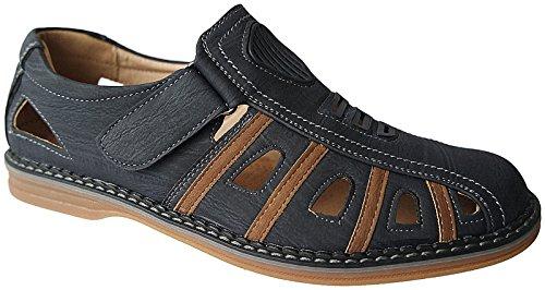 Herren Schuhe Halbschuhe Slipper Sandalen Sommer gr. 40 - 46 nr.X61 blau-khaki