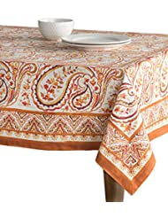 Maison d' Hermine Palatial Paisley 100% Cotton Tablecloth 60 - Inch by 60 - Inch.