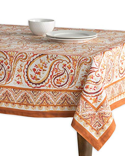 Maison d' Hermine Palatial Paisley 100% Cotton Tablecloth 54 - Inch by 72 - -