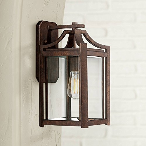 Rockford Rustic Farmhouse Outdoor Wall Light Fixture Bronze Iron 16 1/4