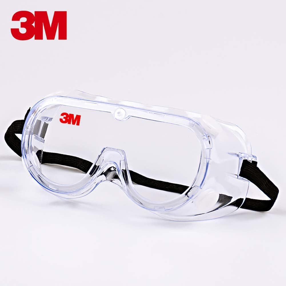 EACSE Gripe Gafas De Protección, Gafas De Protección para Uso Médico, Bacterias Y Los Virus De La Gripe A Resistencia 100%, para Proteger Su Seguridad, Productos Esenciales para La Gripe