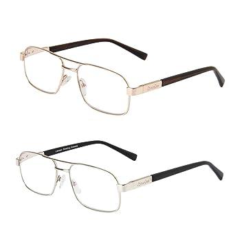 3deda474999 LianSan Designer Women Men Reading Glasses Metal Rectangular Oversized  Magnifying Eyeglasses Eye Strain Readers 1.5 2.0