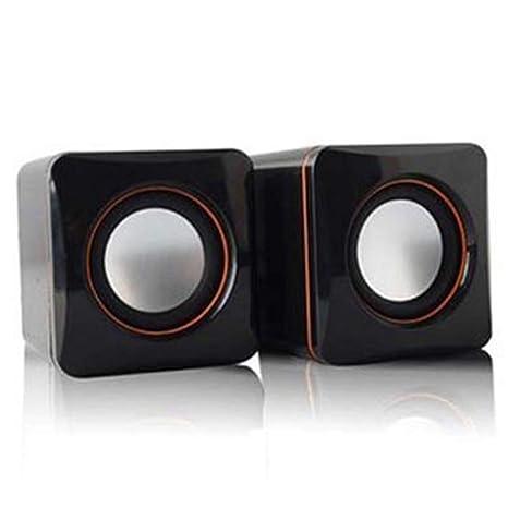 Delleu Mini Altavoz Portátil con Cable USB Reproductor de Música Estéreo Altavoz para MP3 Ordenador Portátil