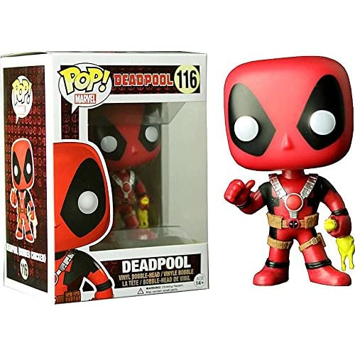 FunKo Figurine Pop ! Marvel 116 - Deadpool - Bobble-Head Deadpool (avec poulet)