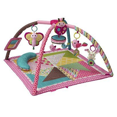 Infantino Playmat - Infantino Go Gaga Deluxe Twist and Fold Activity Gym - Pink